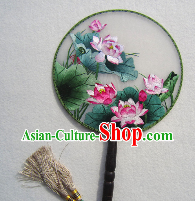 Chinese Traditional Hand Made and Embroidered Palace Fan