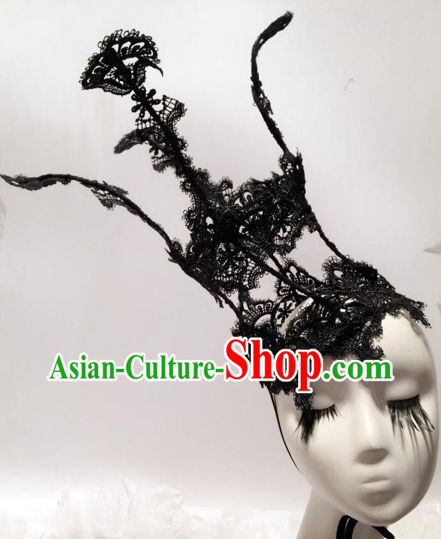 Black Headpieces Hair Fascinators Hair Slides Headpieces Hair Ornaments