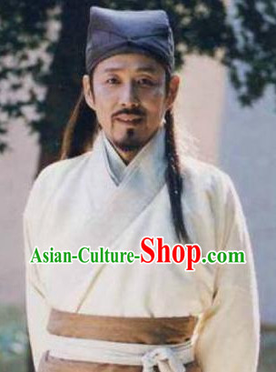 Chinese Ancient Scholar Fabric Hat for Men