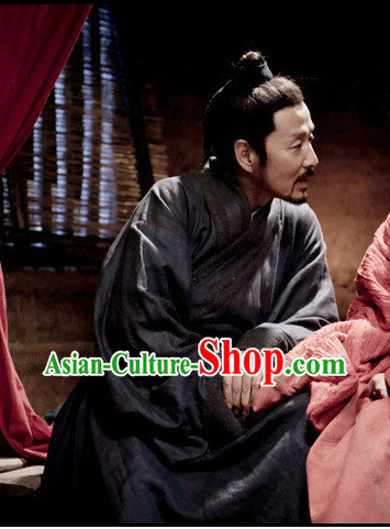 Chinese Ancient Scholar Civilian Black Wig for Men