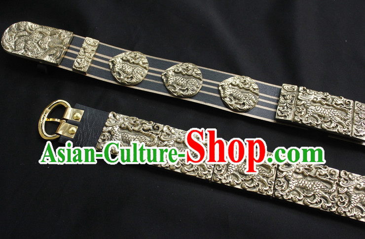 Chinese Ancient General Long Feather Belt