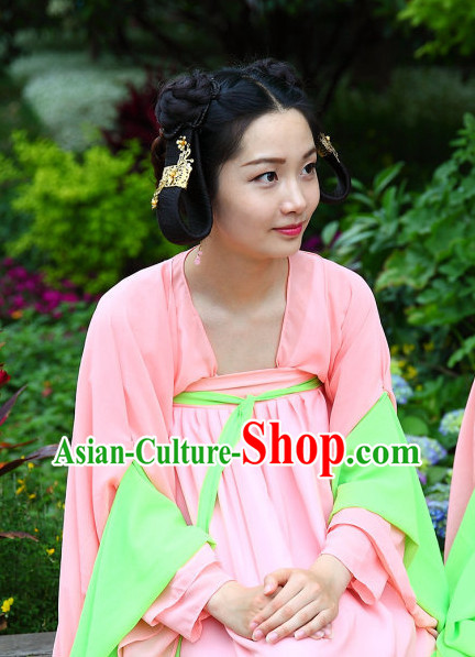 Asian Chinese Traditional Pink Palace Lady Hanfu Clothes