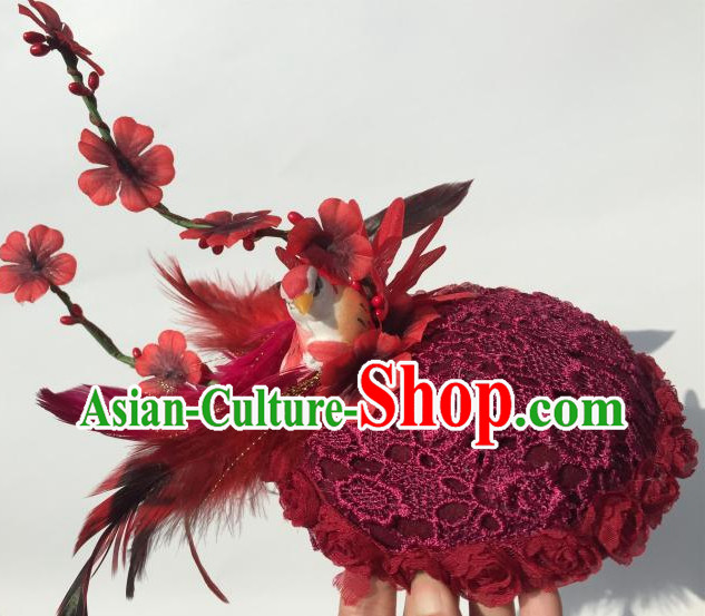 Custom Made Designer Handmade Bird Hair Fascinators Hair Slides Headpieces Hair Ornaments Set