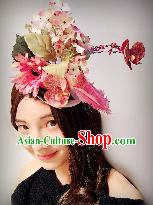 Custom Made Designer Handmade Flower Hair Fascinators Hair Slides Headpieces Hair Ornaments Set