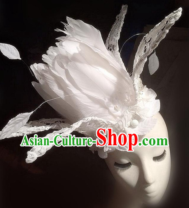 Stage Performance Handmade Flower Hair Fascinators Hair Slides Headpieces Hair Ornaments Set