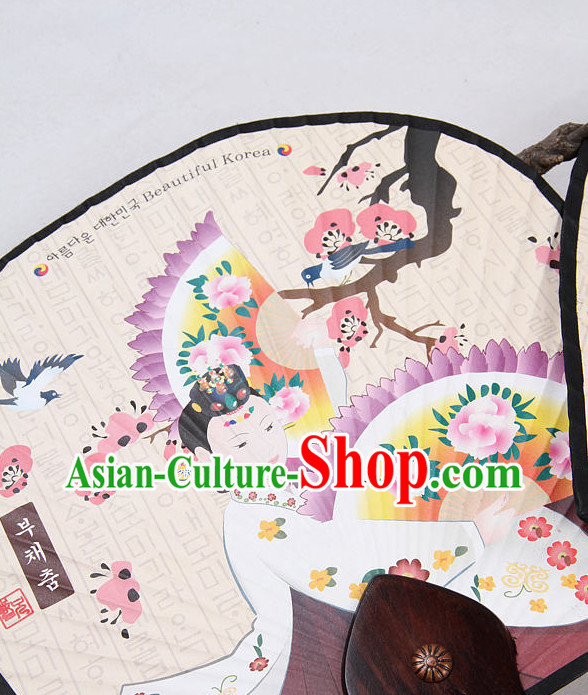 Korean Traditional Handmade Dance Fan for Women