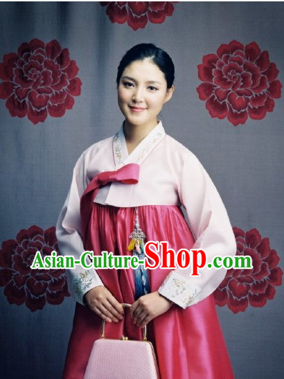 Traditional Korean Custom Made Hanbok Clothing Complete Set for Women