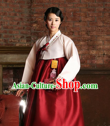 Traditional Korean Custom Made Hanbok Clothing Complete Set for Girls