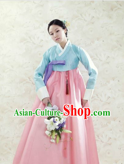 Traditional Korean Custom Made Hanbok Dresses Complete Set for Ladies