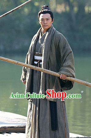 Chinese Superhero Guo Jing Kung Fu Master Costume Complete Set for Men