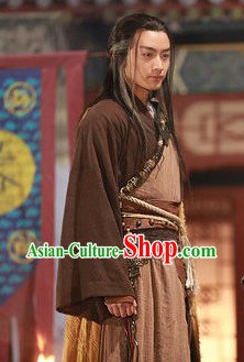 Chinese Superhero Yang Guo Gong Fu Master Costumes Complete Set for Men