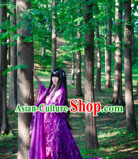 Chinese Purple Empress Costumes Asia Fashion Ancient China Culture