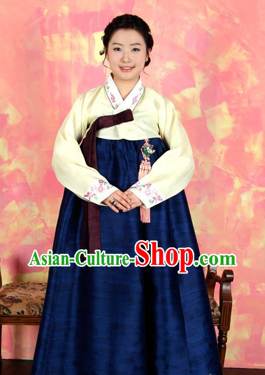 Traditional Korean Custom Made Lady Ceremonial Hanbok Complete Set
