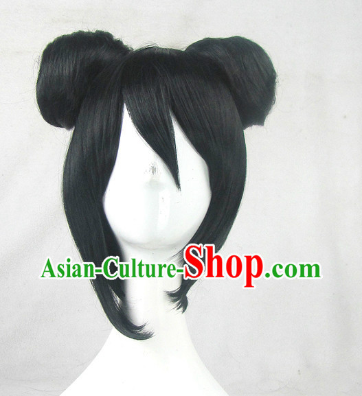Asian Style Chinese Cosplay Traditional Wigs China Ancient Costume Wig