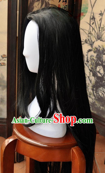 Asian Fashion Chinese Wigs Cosplay Wigs Ancient Costume Wigs Hair Pieces for Men