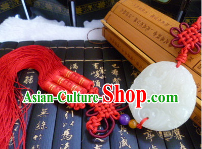Chinese Traditional Suit Accessory Jade Belt Hanging Decoration