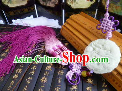 Chinese Traditional Costumes Jade Belt Accessory