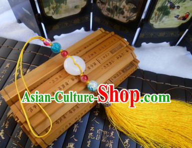 Chinese Traditional Costume Jade Belt Accessory