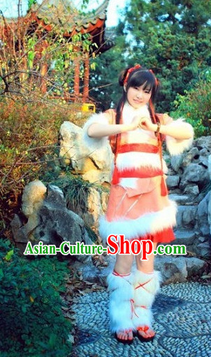 Asia Fashion Chinese New Year Festival Celebration Dance Costumes Complete Set
