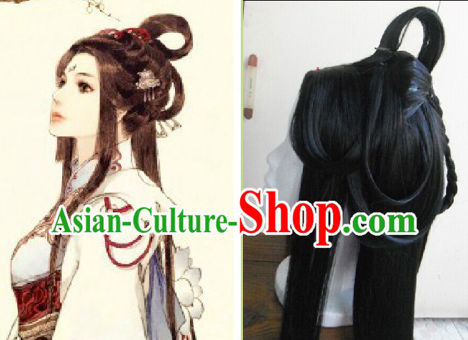 Chinese Ancient Costumes Long Wig
