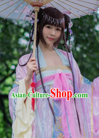 Asia Fashion Chinese Cute Lady Costumes and Headwear