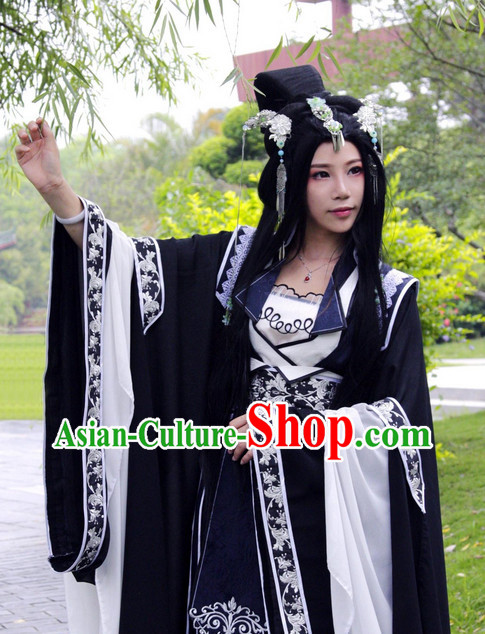 Chinese Traditional Princess Costumes and Hair Accessories Complete Set