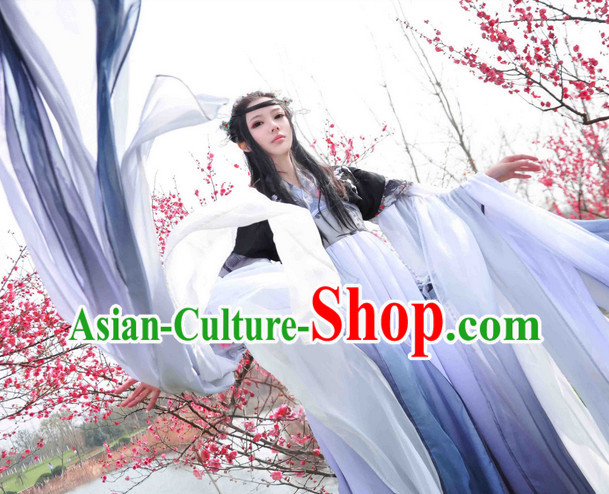 Chinese Classical Dancing Costume and Hairpins Complete Set