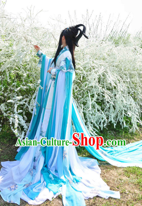 Chinese Ancient Princess Costume and Hair Accessories Complete Set