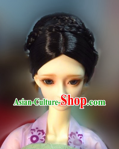 Traditional Chinese Women's Black Wig