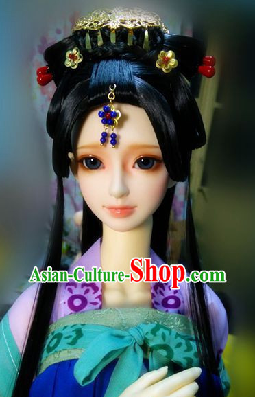 Traditional Chinese Princess Wig and Hairpieces for Women