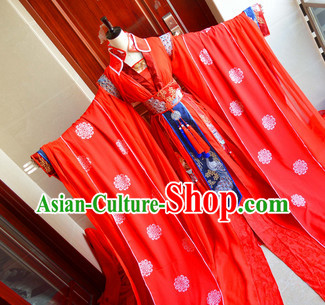 Chinese Traditinoal Empress Wedding Dresses Complete Set