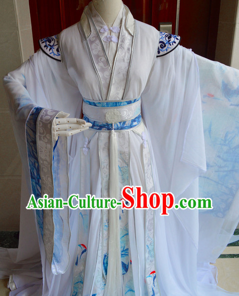Chinese Ancient Poet Clothing Complete Set