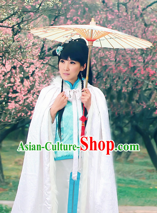 Chinese Classical Pure White Cape