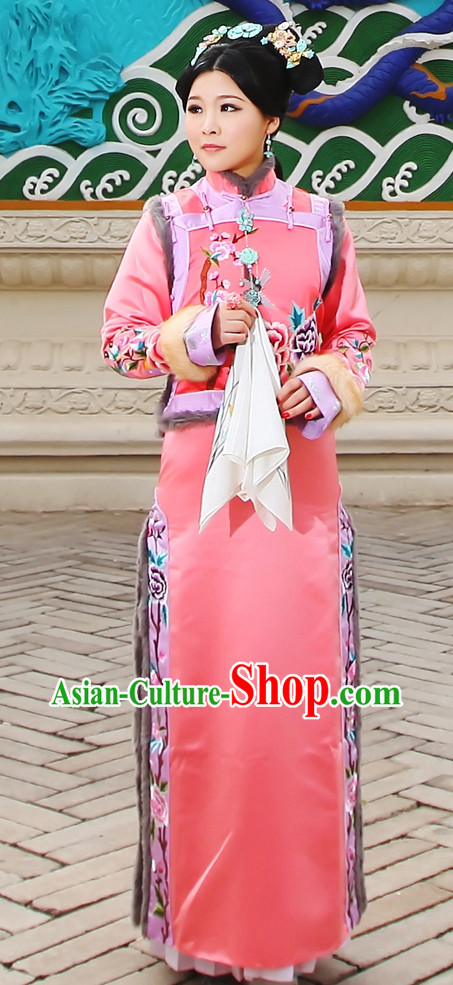 China Fashion Chinese Ancient Costume Qing Dynasty Princess Cheongsam