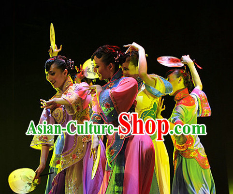 China Shopping online Chinese Classical Dance Costumes and Hair Accessories