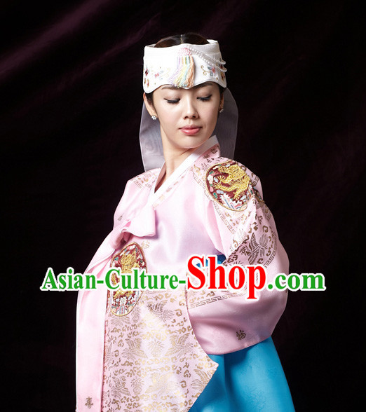 Korean Traditional Wedding Dress Dangui Hanbok Clothes Complete Set