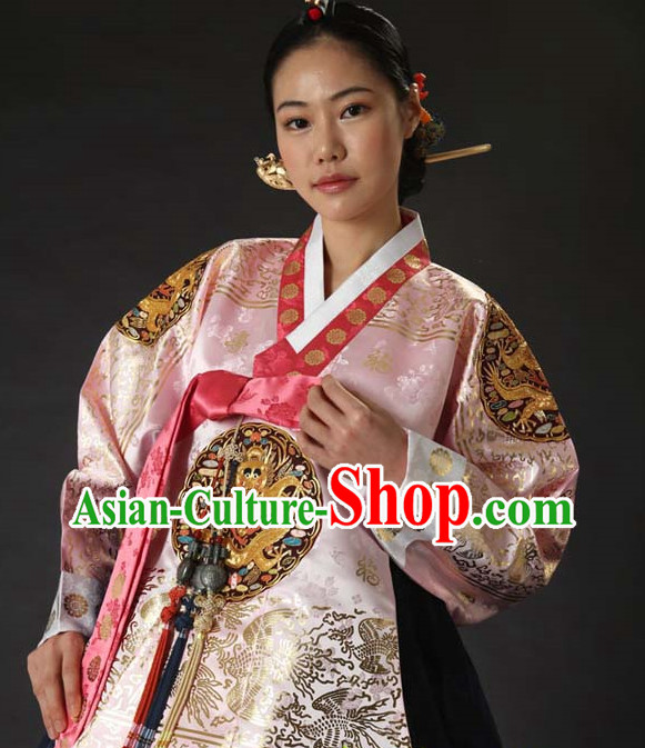 Korean Traditional Roayl Hanbok Dress Dangui Outfit Complete Set