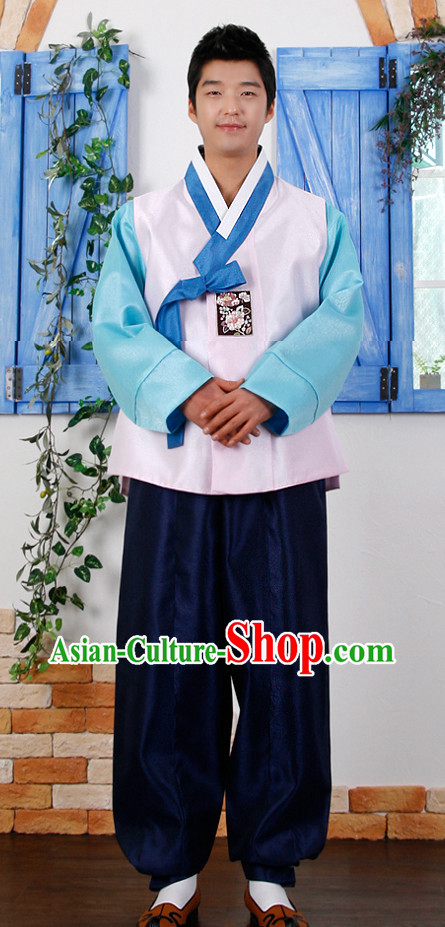 Korean Male Bridal National Dresses Complete Set