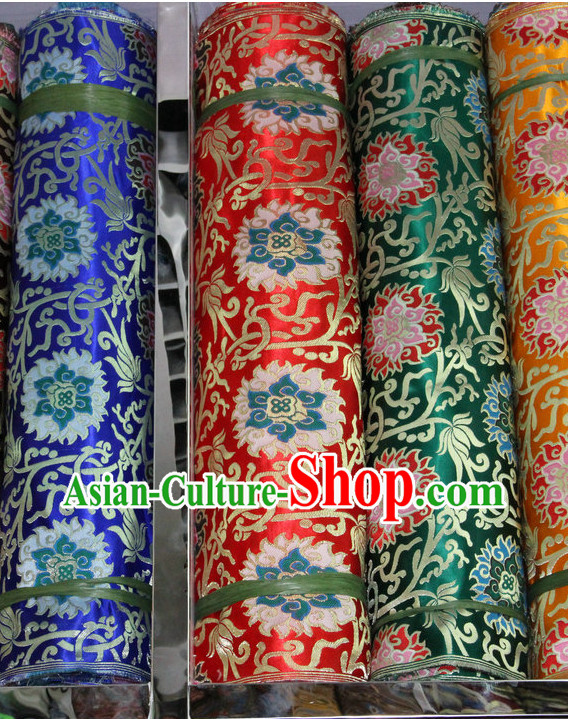 Tibetan Brocade Embroidered Fabric Dress Material