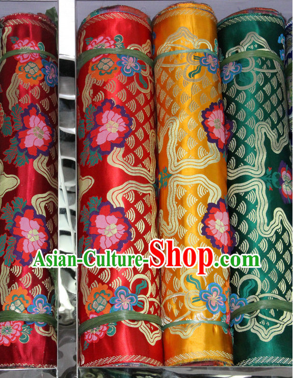 Tibetan Brocade Embroidered Fabric Sewing Material