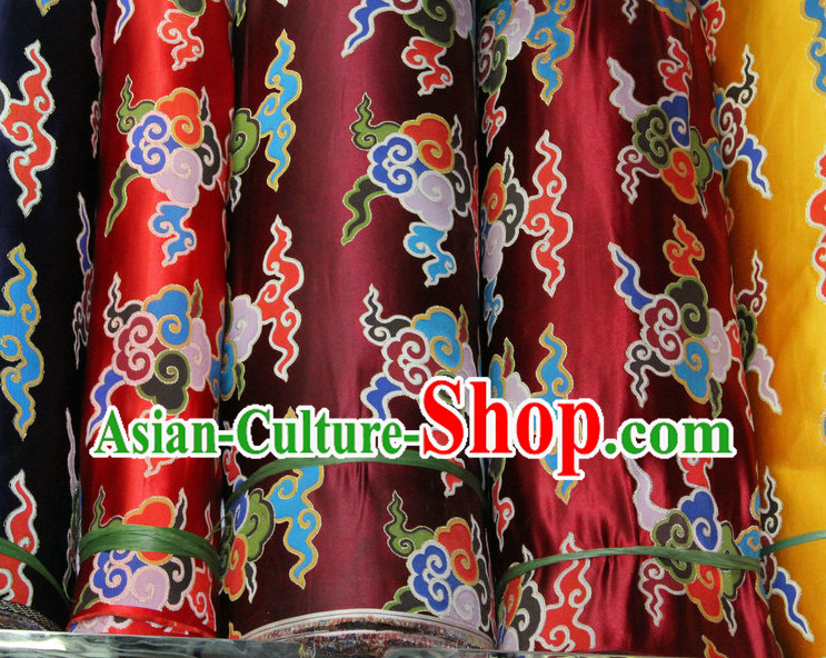 Chinese Tibetan Brocade Embroidered Fabric Sewing Material