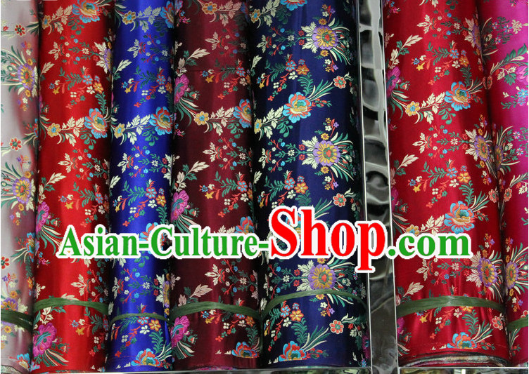 China Tibetan Brocades Embroidered Fabric Sewing Material