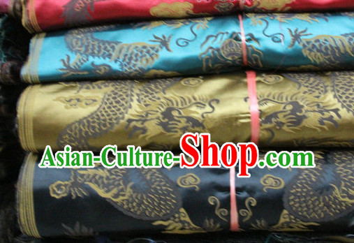 Asian Brocade Upholstery Material Embroidered Fabric Dress Material