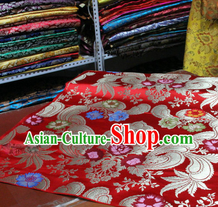 Chinese Traditional Brocade Embroidered Fabric Dress Material