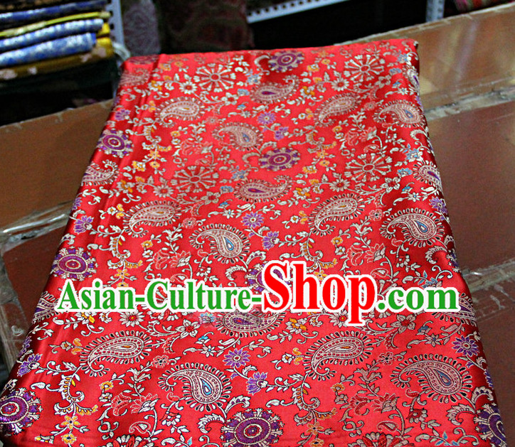 Chinese Traditional Brocade Embroidered Fabric Dresses Material
