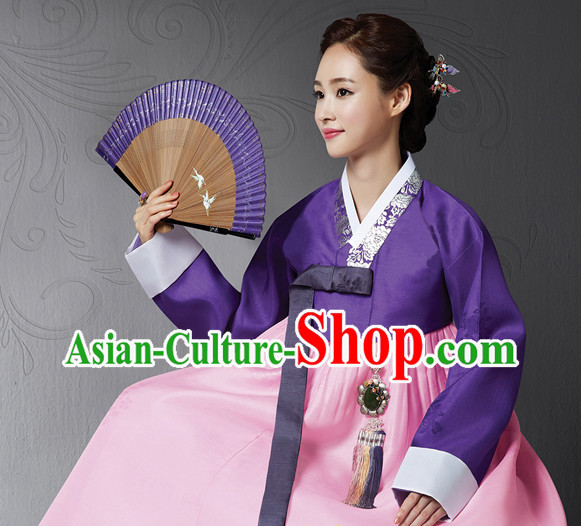 Korean Traditional Dress Imperial Female Plus Size Dress Fashion Clothes Complete Set