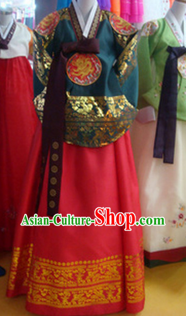 Korean Traditional Garment Imperial Costumes Female Plus Size Dress Fashion Clothes Complete Set