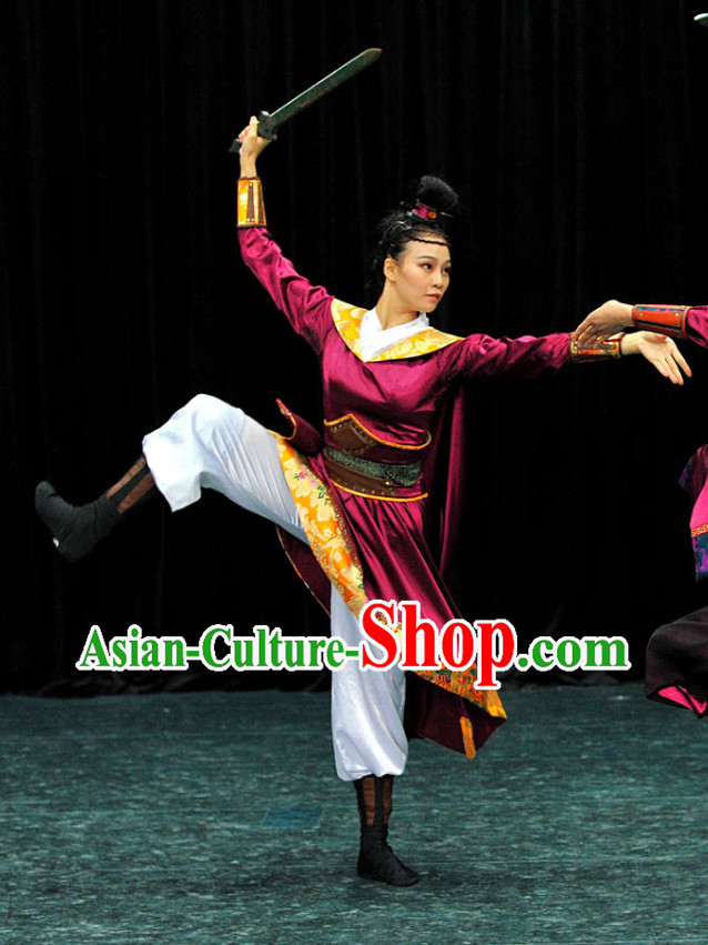 Chinese Classical Sword Dancing Costumes