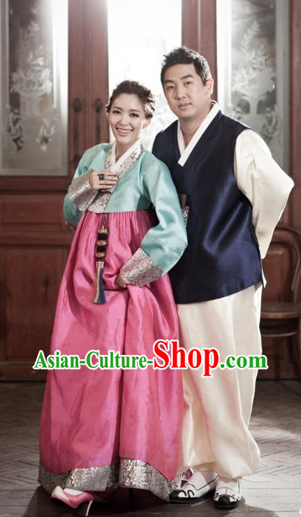 Korean Couple National Dress Costumes Traditional Costumes Korean Style Fashion