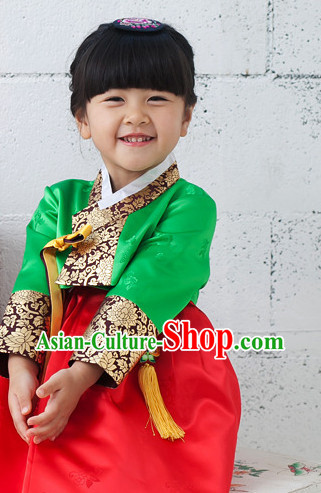 Korean Kids National Costumes Traditional Costumes Hanbok Dress
